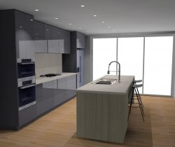 3d kitchen drawing
